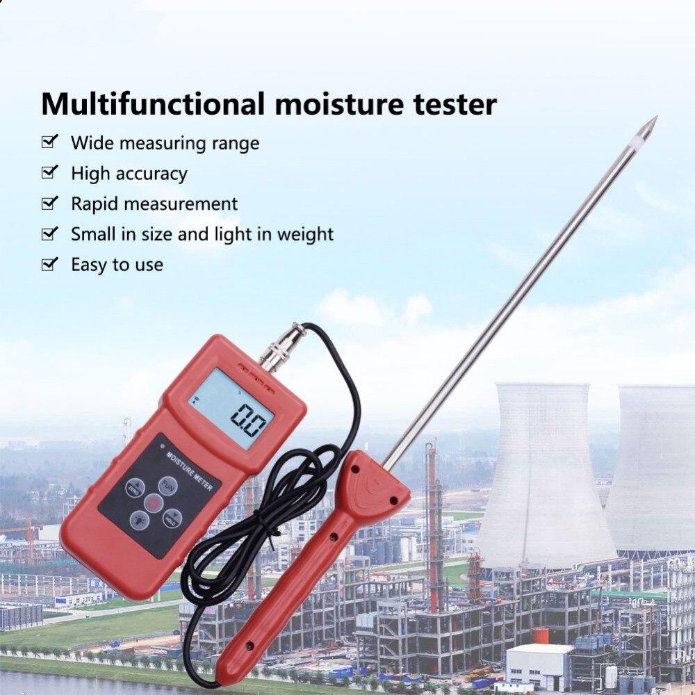 Analyseur à haute fréquence d'appareil de contrôle de mètre d'humidité de MS350A pour le sol, sable d'argent, poudre de combinaison chimique, poudre chimique de poudre de charbon