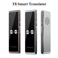 Tradutor de voz inteligente portátil t8 em dois sentidos em tempo real 68 tradução multilíngue para aprender a viajar reunião de negócios|Tradutor| |  -