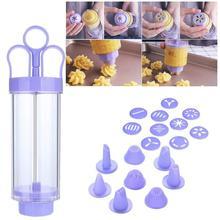 Пресс для печенья с цветочным узором, крепкая форма для печенья, машина для печенья, инструмент для выпечки, кухонные кондитерские изделия