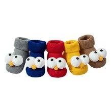 2021 New winter cartoon big eyes baby socks floor non-slip toddler baby foot socks
