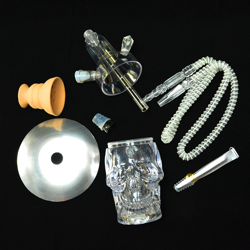 Newest unique Skull led shisha narguile hookah set colorful Hookah Narguile Shisha with bong weed Accessorie chicha electronique 6