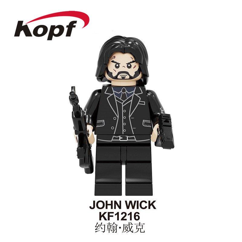 Single Sale Building Blocks Retired Killer John Wick Chapter 3 - Parabellum Thriller Figures Toys Collection For Children KF1216
