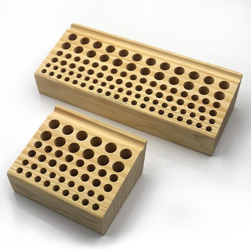 98 Hole Pine Wood Wooden Leather Engraving Printing Tool Storage Multi-Func