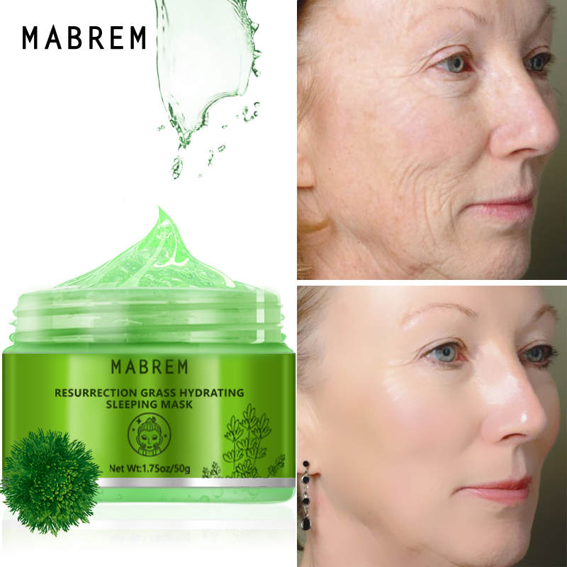 MABREM Plant Hydrating Face Mask Moisturizing Anti-Aging Whitening Skin Care Revitalizing Cream Sleeping Facial Mask Treatment