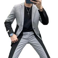 Men Suit Business-Tuxedos Wedding Men's Slim VEIAI Dress Mariage Bridegroom-Color Homme