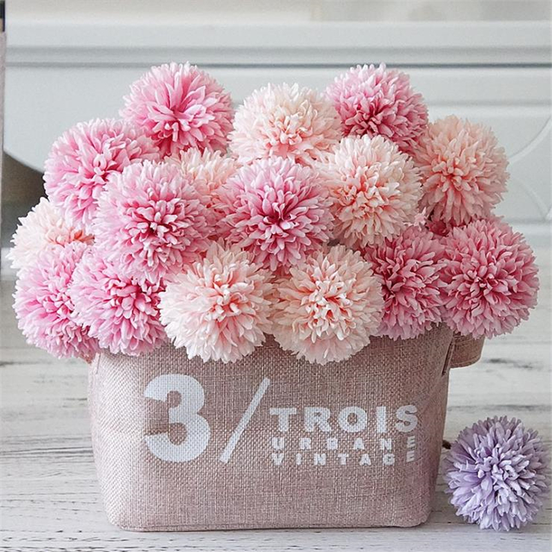 1PC artificial flower dandelion plastic wall decoration flowers and plants 29cm DIY Craft