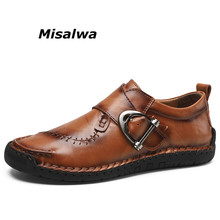 Misalwa Spring Autumn Men Casual Shoes Loafers Designer Buckle Breathable Moccasins Flats Slipe On Driving Shoes Oversize 38-48 zenvbnv 2017 new slip on casual men loafers spring and autumn mens moccasins shoes genuine leather men s flats pigskin shoes