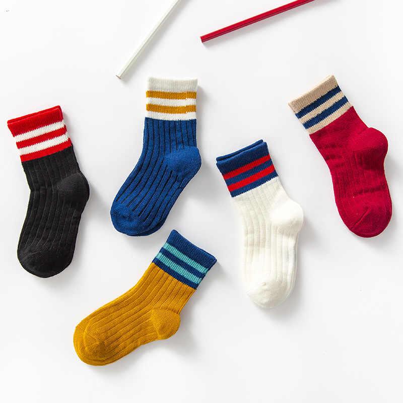 Japanse stijl College Stijl Buis Sokken Twee-Vertakte Strepen Studenten Sokken Retro KINDEREN Sokken Katoen kinderen Sokken
