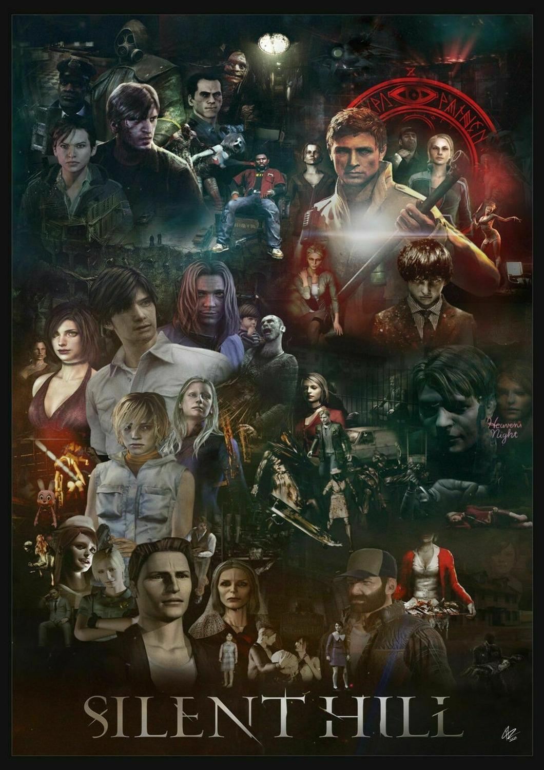 SILENT HILL Game Art Film Print Silk Poster Home Wall Decor 24x36inch image