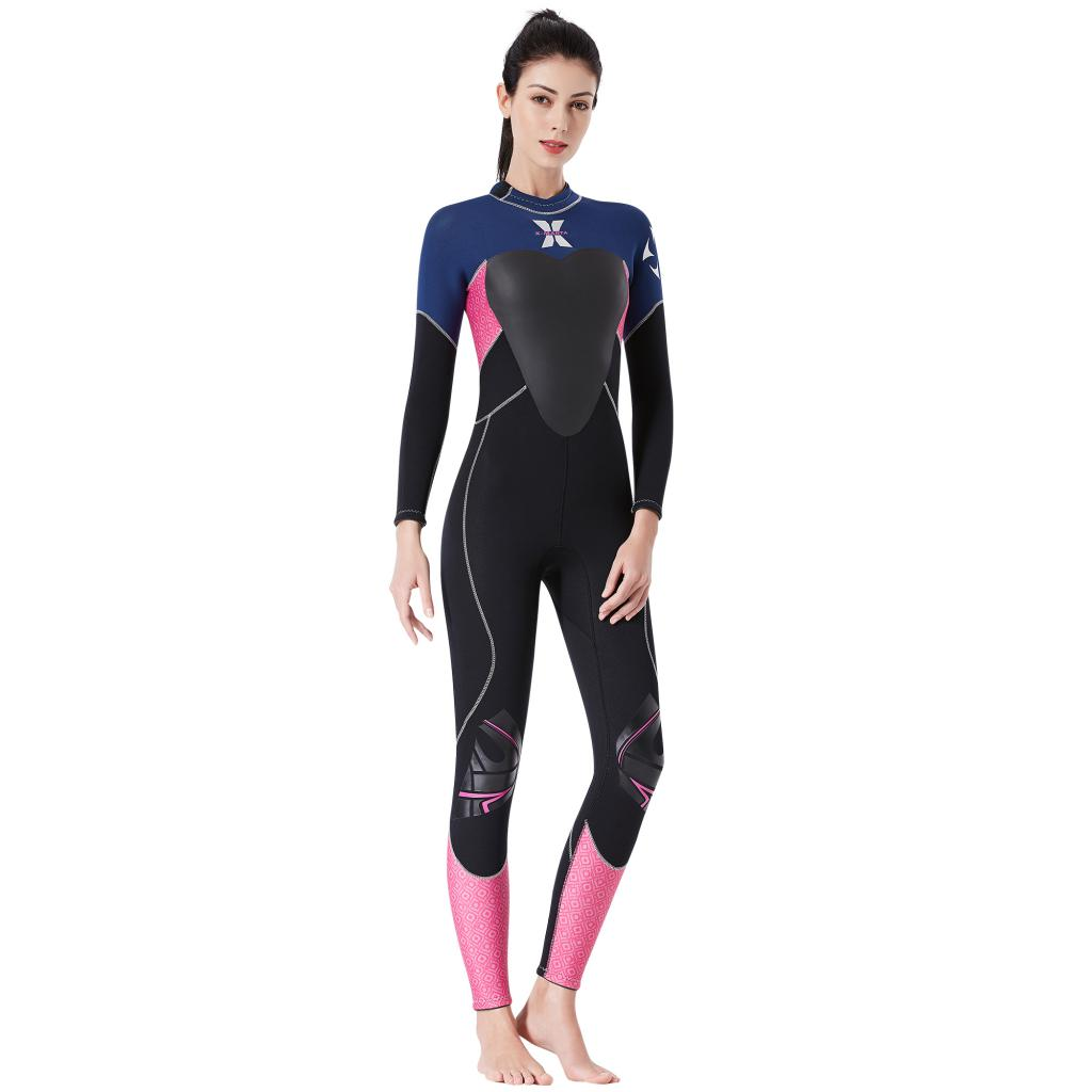 3.5mm néoprène combinaison femmes corps complet plongée sous-marine plongée en apnée combinaison de natation pour Sports nautiques surf plongée plongée gratuite