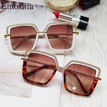 Gafas de sol cuadradas de moda para mujer, anteojos de sol femeninos de medio marco de Metal, de diseño de marca, a la moda, con UV40