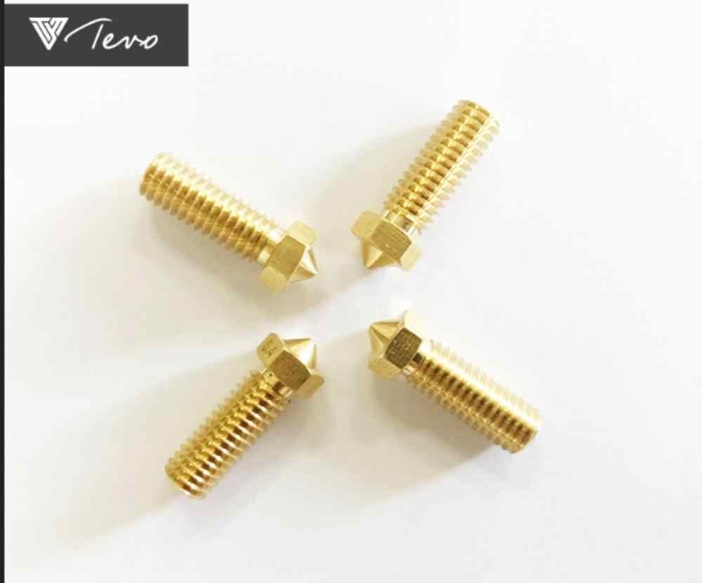 TEVO 1/4/5 chiếc 3D Phụ Kiện Máy In V5 V6 M6 ren Nozzle0.4 mm cho 1.75mmfilamnet Full kim loại E3D