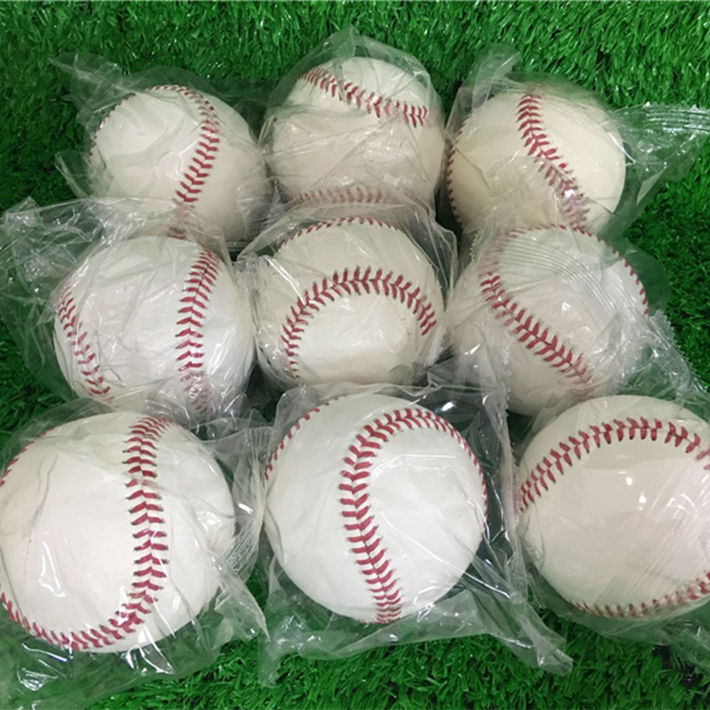 Baseball Full Cowhide 1pcs 9inch Team Handmade White Safety Kid Soft Base Balls Practice For Trainning 30 Wool Core Beisbol Hard