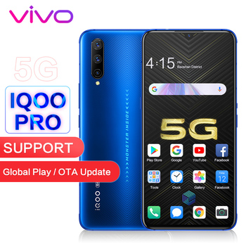 "vivo iQOO Pro 5G Support Global ROM Google NFC Original 6.41"" Screen 48MP Camera 44W Fast Charge Snapdragon Smart Mobile Phone"