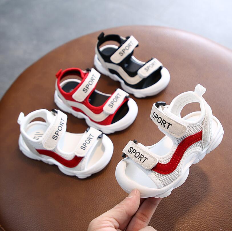Sport Letter Summer Mesh Sandals 1