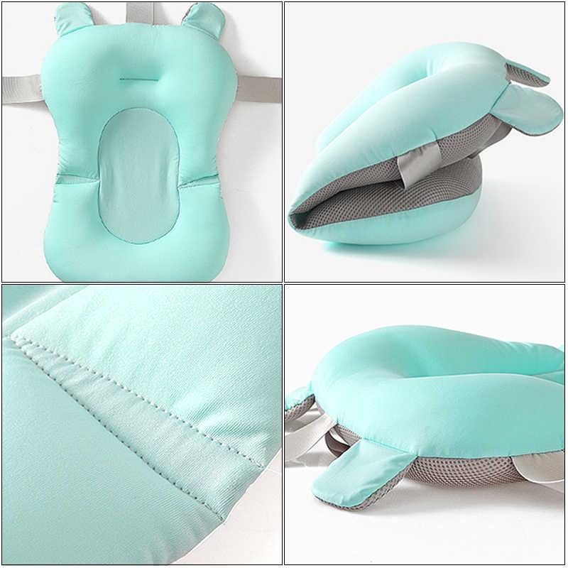 Yenidoğan bebek küveti koltuk minderi bebek duş taşınabilir hava yastığı yatak kaymaz küvet bebek güvenlik güvenlik katlanabilir yumuşak yastık