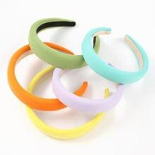 2021 new Fashion simple solid color fabric headband girl popular creative sponge headband party headwear