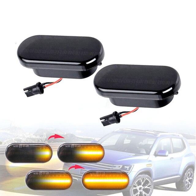 2Pcs Led Dynamische Side Indicator Marker Signal Light Lamp Sequentiële Knipperlicht Voor Vw MK4 Jette Bora Golf 3 4 Lupo Passat
