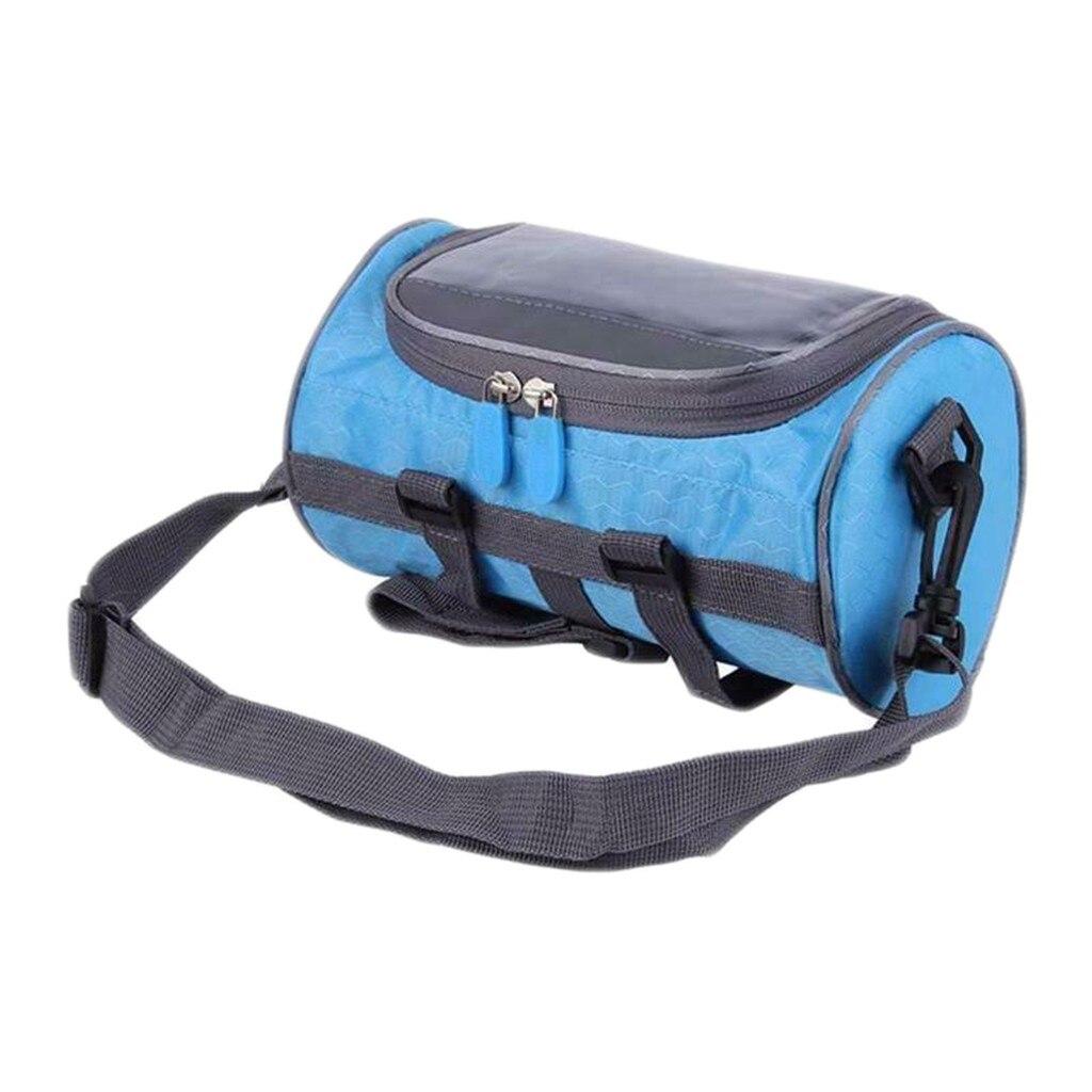 2In1 Gym Bag Bicycle Bag Handlebar Front Tube Waterproof Bike Phone Bag Touch Screen Waterproof Bags