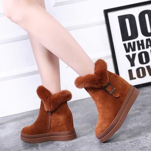 Image 5 - Womens Snow Boot Genuine Leather Female Ankle Boots 2019 Winter Fashion Buckle Woman Snow Boots Women High Heels Winter Shoes