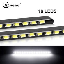 Nlpearl 2x автомобиль светильник сборки led drl светодиодный