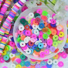 20 grama 800 pces 6mm arco-íris cor polímero argila plana contas redondas, disco solto espaçador grânulos para diy jóias fazendo pulseira crafting