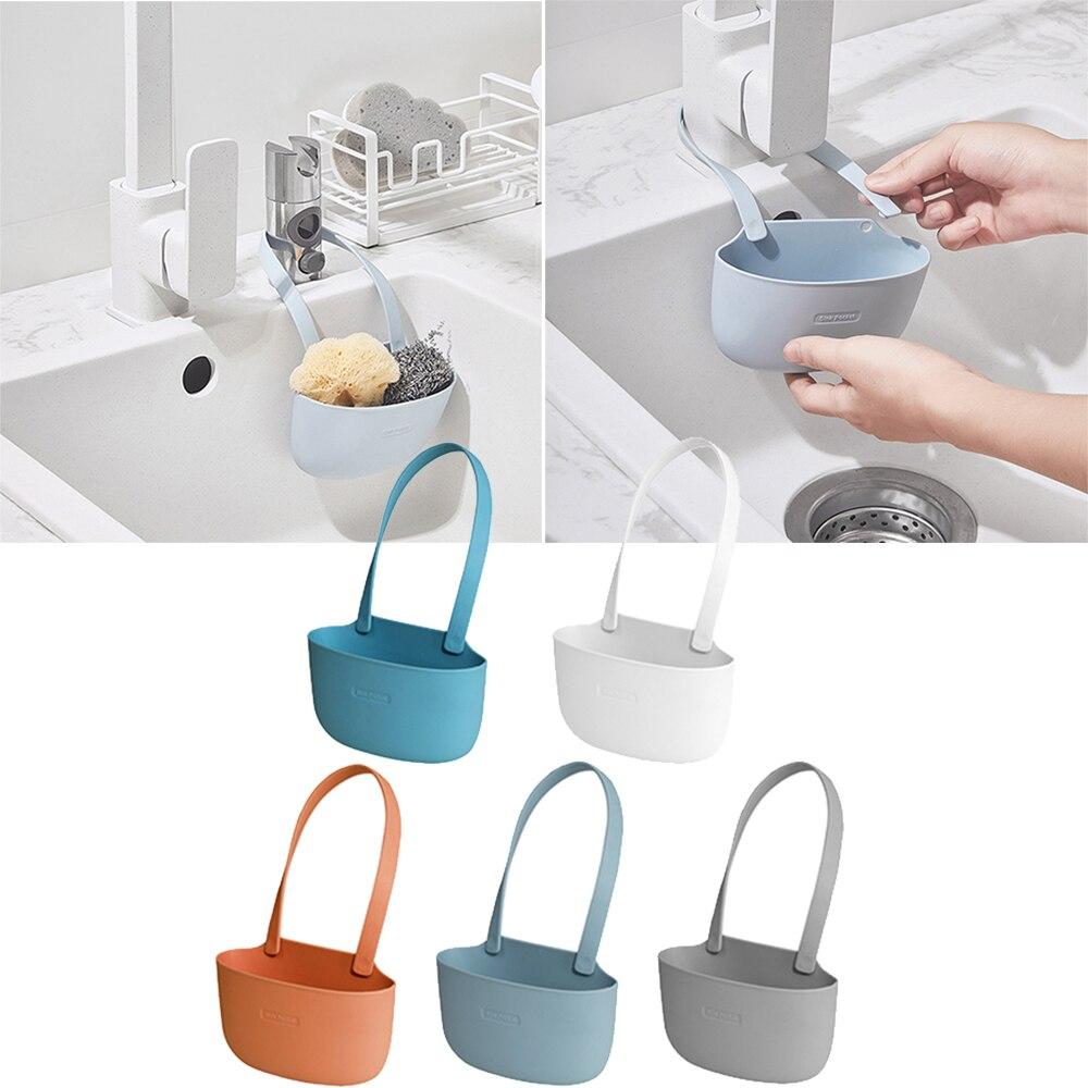 Eco Friendly Kitchen Wash Hanging Storage Baskets Adjustable Bathroom Soap Sponge Drain Rack Tools Kitchen Drain Basket