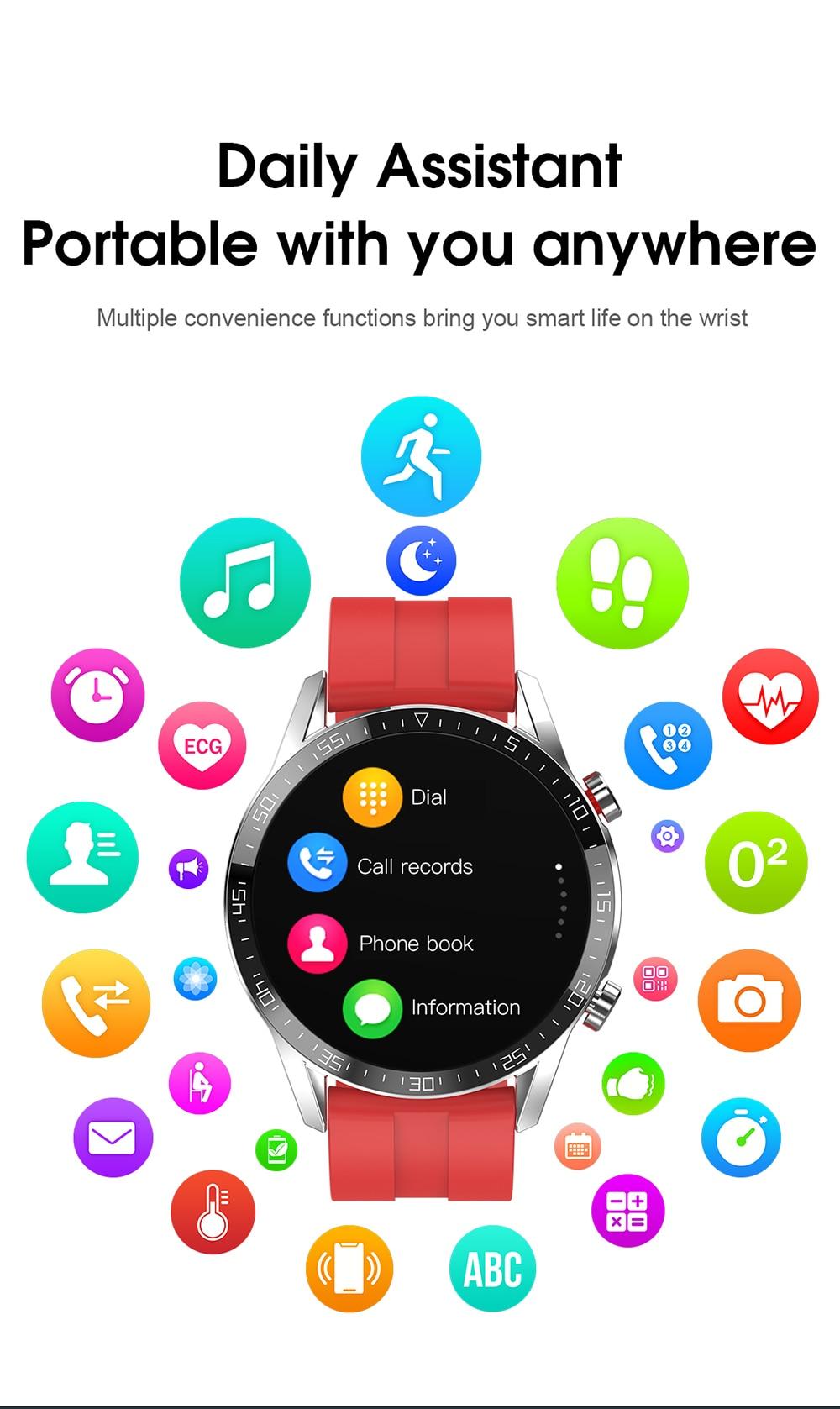 H51aeba20303c4f35a45e85c894e0ce743 For Phone Xiaomi Android IOS Reloj Inteligente Hombre Smartwatch Men 2021 Android IP68 Smartwatch Answer Call Smart Watch Man