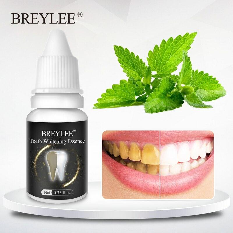 BREYLEE Teeth Whitening Gel Essence Oral Hygiene Tooth Powder  Cleaning White Teeth Care Bleaching Dental Tools Toothbrush 10ml
