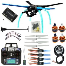 DIY RC Drone Kit 4 axis Quadrocopter 500mm Multi Rotor Frame 6M GPS APM2.8 Flight Controller Flysky FS i6 Transmitter Receiver
