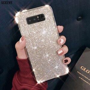 Luxury Glitter Back Cover For Samsung S7 Edge S8 S9 S10 Plus Case S10E Coque S 10 E Casing Mobile Phone Soft Etui Diamond Bumper(China)
