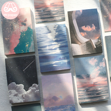 Mr Paper 100 шт./лот Ins стильные радужные Звездные волны заката свободные листы блокноты минималистичные записывающие очки Artsy стиль блокноты