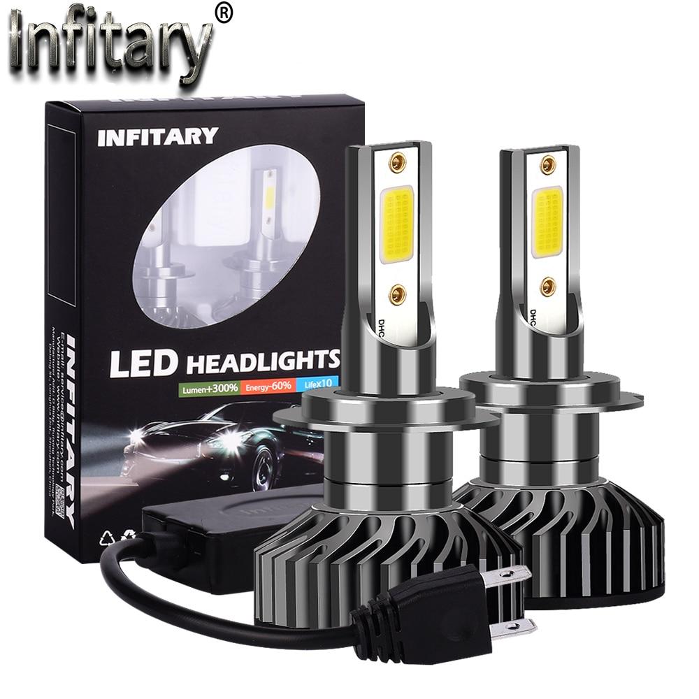Infitary Canbus автомобильный головной светильник s лампа светодиодный H4 H7 H1 H3 H11 H13 H27 880 HB3 HB4 9004 9007 12000Lm лед COB 6500K 4500K авто противотуманный светильник