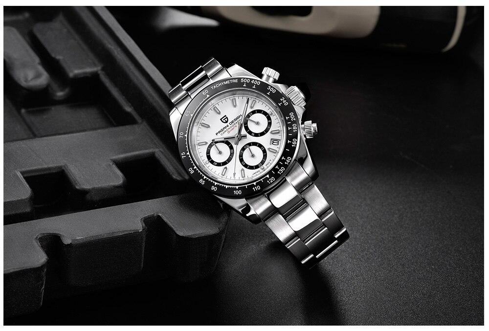 quartzo relógio de negócios dos homens relógios