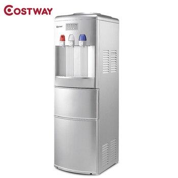 COSTWAY Multi-funktion Top Laden Wasser Dispenser mit Eingebaute Eismaschine Maschine EP23573