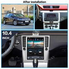 ZWNAV de pantalla Vertical Tesla estilo Android 9,0 PX6 4GB + 64GB incorporado en coche CARPLAY para Volkswagen/VW Magotan 2012 + navegación GPS