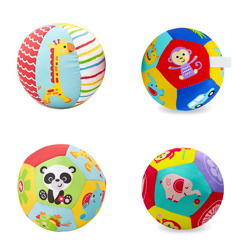 2019 <font><b>Baby</b></font> <font><b>Toys</b></font> For Children Animal Ball Soft Plush Mobile <font><b>Toy</b></font> With Sound <font><b>Baby</b></font> Rattle Infant Body Building Ball <font><b>Toy</b></font> For <font><b>Baby</b></font> Gift image