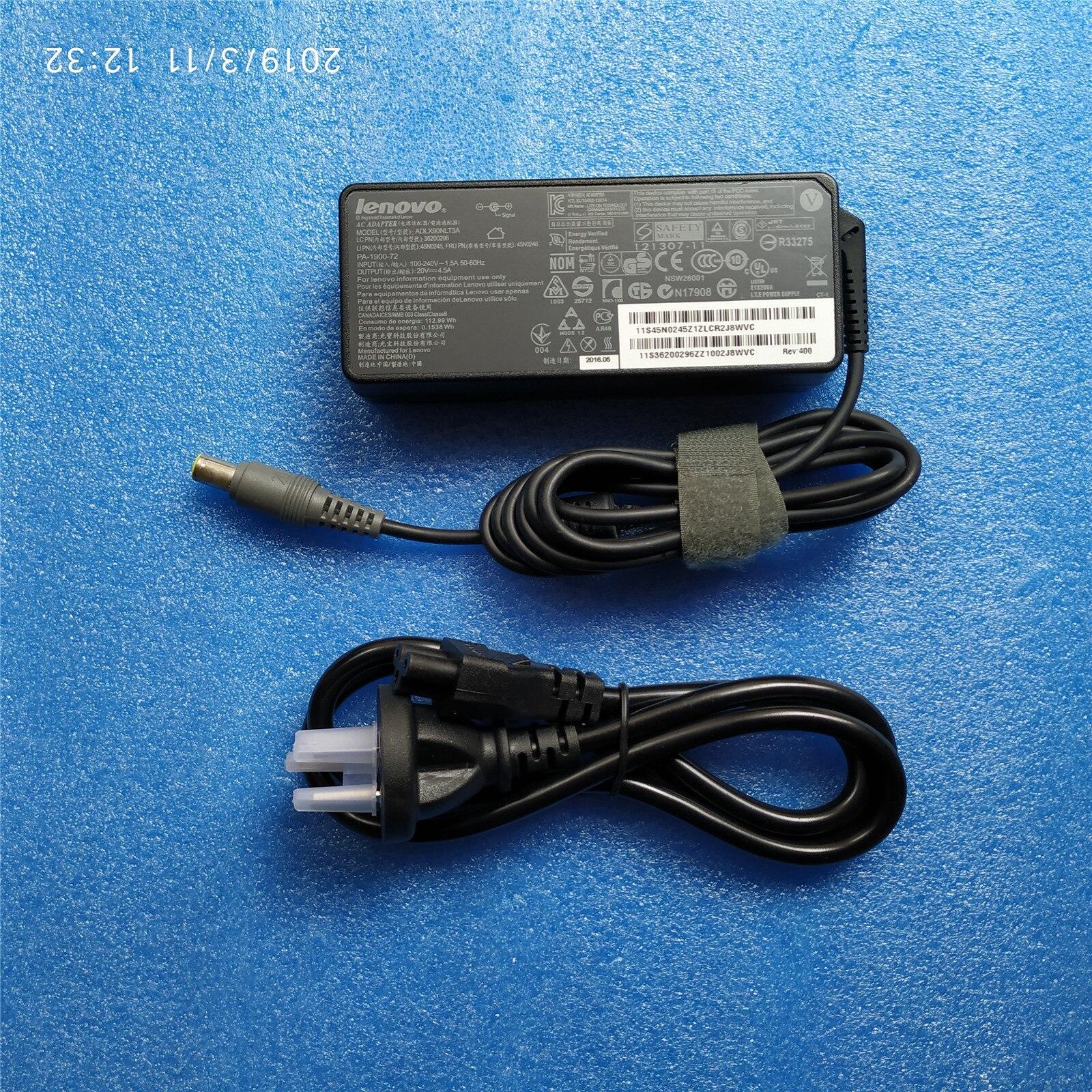 New Original 20V 4.5A 90W Laptop Ac Carregador Adaptador Para lenovo ThinkPad t400 t410 t420 t430 E40 E420 e430C E431 E520 E530 T61