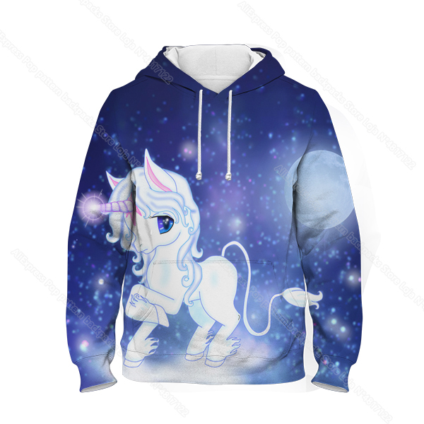 Fashion kids dab unicorn hoodie children cartoon 3d printed
