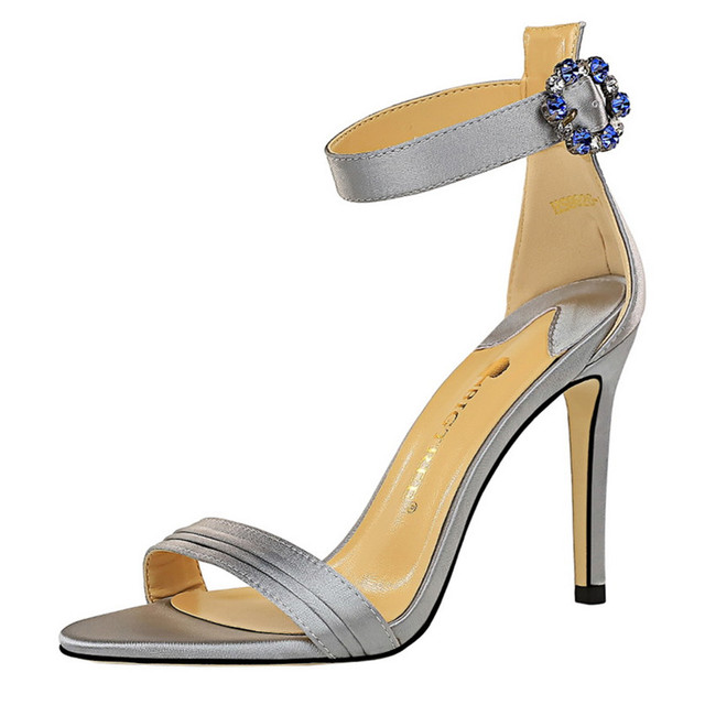 Womens Rhinestone Sandal High Heels  5