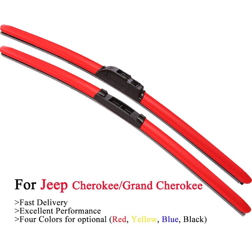 Цветные гибридные щетки стеклоочистителя HESITE для Jeep Grand Cherokee SRT8 WK1 WK2 WK3 WK WH Cherokee Liberty KL KJ KK XJ 313 2014 2016 2017