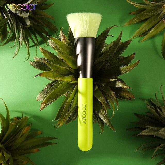 Docolor 10Pcs Neon Makeup Brushes Professional Powder Foundation Eyes Blending Makeup Brushes Set Synthetic Hair Cosmetics Brush 2