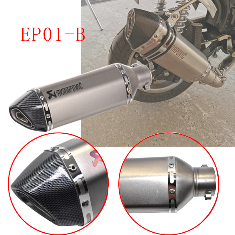 Image 3 - Universal akrapovic exhaust motorcycle muffler escape moto with db killer Exhaust Systems for honda benelli msx125 nmax EP01-in Exhaust & Exhaust Systems from Automobiles & Motorcycles