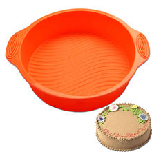 9 inch round silicone cake mold oven baking tools chiffon mould