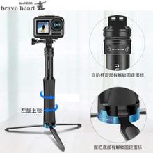 Aluminum tripod selfie stick  monopod For gopro Go pro hero 7 6 5 4 3 sj4000 sj5000x xiaomi yi hero6 hero9 camera Accessories