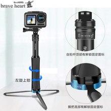 Treppiede in alluminio selfie stick monopiede per gopro Go pro hero 7 6 5 4 3 sj4000 sj5000x xiaomi yi hero6 hero9 accessori per fotocamere