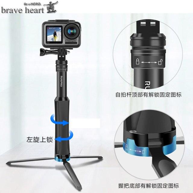 الألومنيوم ترايبود selfie عصا monopod ل gopro الذهاب برو بطل 7 6 5 4 3 sj4000 sj5000x شاومي يي hero6 hero9 كاميرا الملحقات