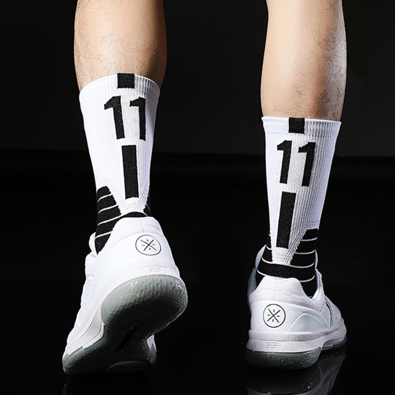 No11 Kyrie Eleven Andrew 2020 Irving Basketball Player Star Arrow SignThick Sport Crew Socks Digital Number Uncle Drew Brooklyn
