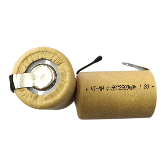 4/5SC 1.2V 2500mAh Ni-MH Rechargeable SC Battery Cell for DIY Power Tools Battery Electronic Toys NIMH Battery with welding tabs