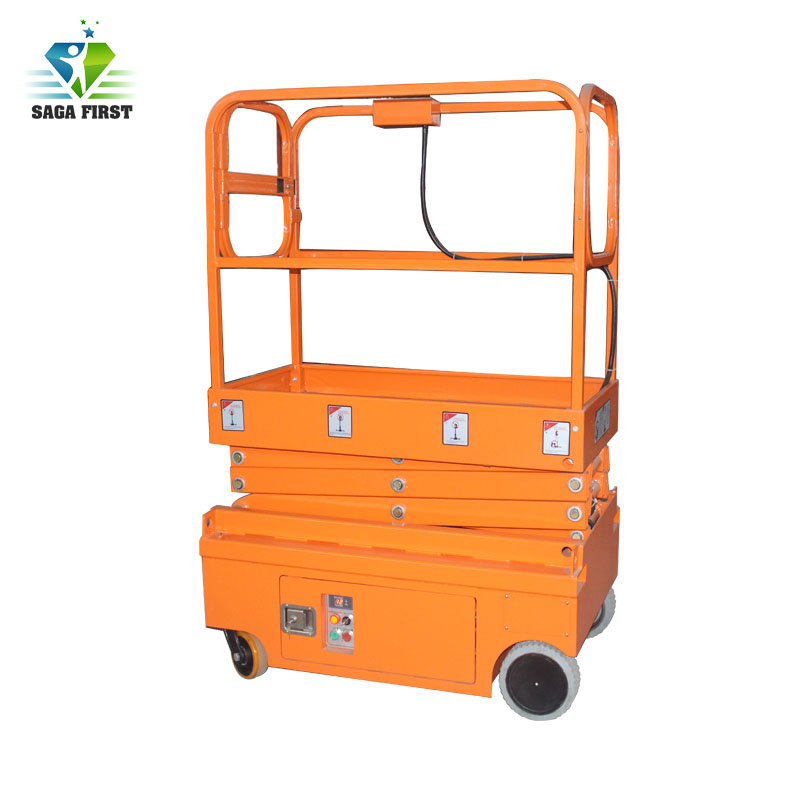 Self Propelled Mini Scissor Hydraulic Lift For Mobile Aerial Work Man Lift High Quality